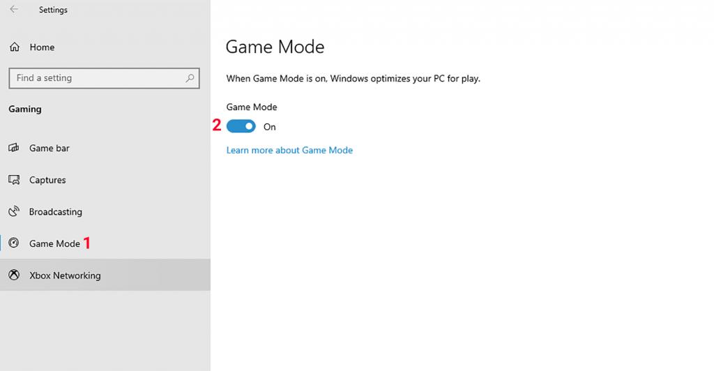 فعال کردن Game mode در ویندوز