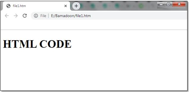 خروجی HTML