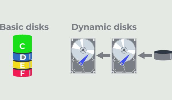تفاوت دیسک Basic با Dynamic چیست؟