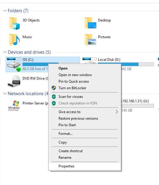 استفاده از ابزار CHKDSK ویندوز برای چک کردن سلامت دیسک